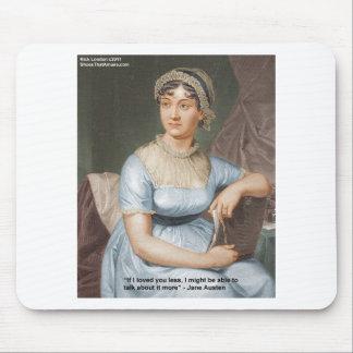 Jane Austen liebte U weniger Zitat auf Geschenken Mousepad