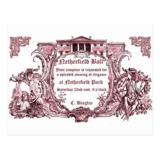 Jane Austen: Netherfield Ball laden Karten ein Postkarte