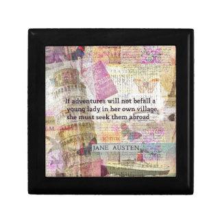 Jane Austen-Reiseabenteuerzitat Geschenkbox