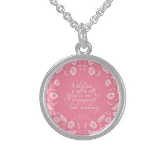 Jane Austen-Stolz u. Vorurteil-gelehrtes mit Sterling Silberkette