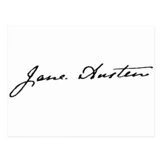 Jane Austen-Unterzeichnung Postkarte
