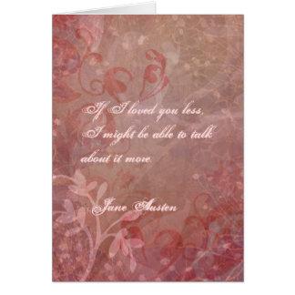 Jane Austen-Valentinstag-Karte BESONDERS Karte