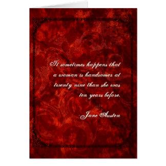 Jane Austen-Zitat-Geburtstags-Karte BESONDERS Karte