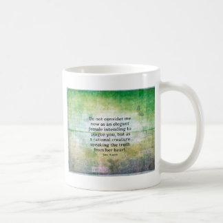Jane Austen-Zitat Stolz und Vorurteil EHRLICHKEIT Kaffeetasse