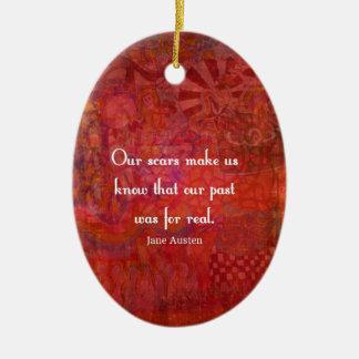 Jane Austen-Zitat über Lebenerfahrungen Keramik Ornament