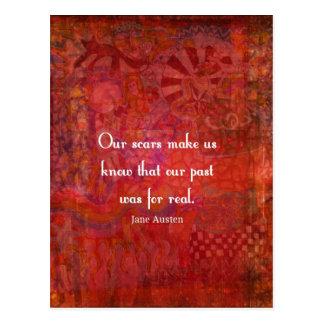Jane Austen-Zitat über Lebenerfahrungen Postkarte
