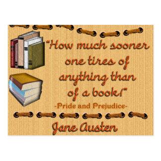 Jane Austen Zitatpostkarte Postkarte