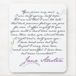 Jane Austens Überzeugungs-Zitat #1 Mousepad