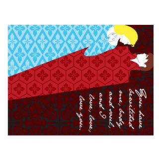 Jane Austenstolz- und -vorurteilgeschenk Postkarte