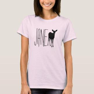 Jane-Damhirschkuh-Rosa-Leben merkwürdig T-Shirt
