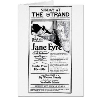"""""""Jane Eyre"""" 1922 Vintage Filmanzeigenkarte Karte"""