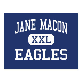 Jane Macon Eagles mittleres Brunswick Georgia Postkarte
