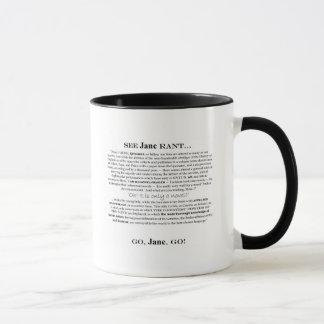 """Janeite"" Jane Rant-Tasse Tasse"