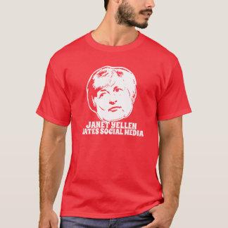 Janet Yellen hasst Sozialmedien T-Shirt