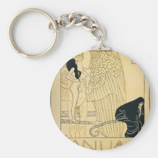 Januar durch Gustav Klimt Schlüsselanhänger