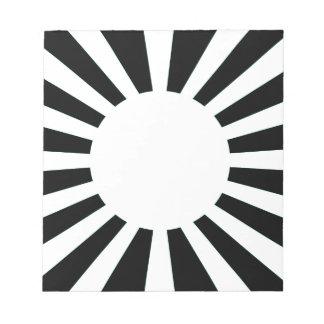 Japan-aufgehende Sonne-Flagge Notizblock
