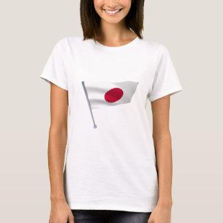 Japan-Flagge auf einem Pfosten T-Shirt