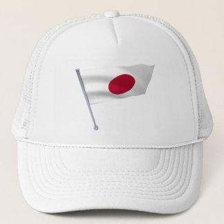 Japan-Flagge auf einem Pfosten Truckerkappe