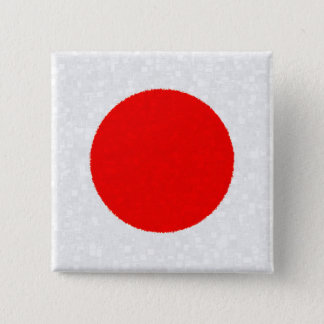 JAPAN-FLAGGE QUADRATISCHER BUTTON 5,1 CM