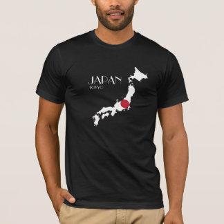Japan-Flaggen-Karten-Shirt T-Shirt