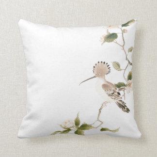 Japan-Frühlings-Blumen und Vögel Kissen