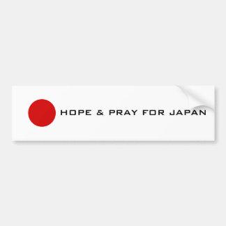 Japan - Hoffnung Autoaufkleber