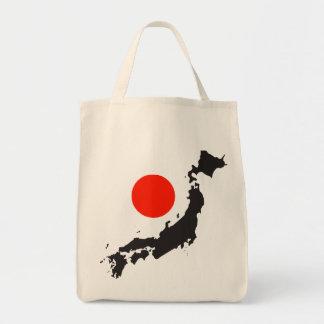 Japan-Karten-Kontur und -kreis Einkaufstasche
