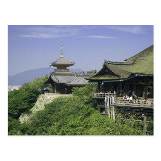 Japan, Kyoto, die Ansicht von Kiyomizu Tempel Postkarte