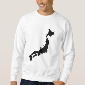 Japan-Land-Karten-Kontur-Schwarz-Silhouette Japan Sweatshirt