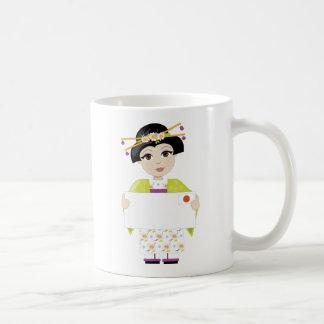 Japan-Mädchen-Zeichen Kaffeetasse