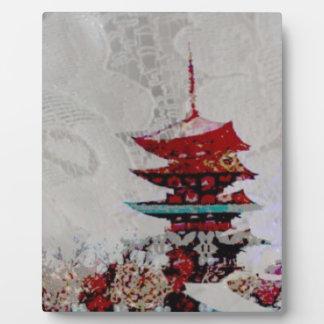 Japan-Pagoden-Spitze-Reihe Fotoplatte