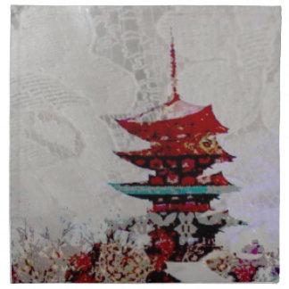 Japan-Pagoden-Spitze-Reihe Stoffserviette