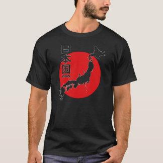 Japan-Schwarzes T-Shirt