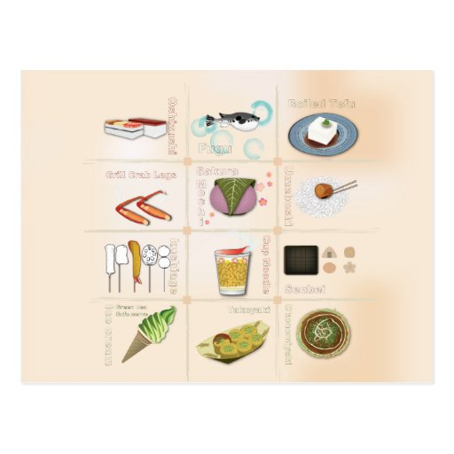 Japan-Snack-Food-Postkarte
