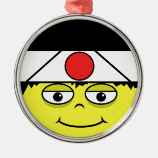 Japan stellen gegenüber silbernes ornament