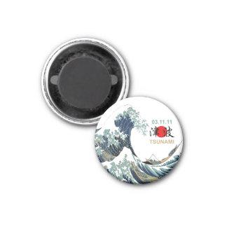 Japan-Tsunami 2011 Runder Magnet 3,2 Cm