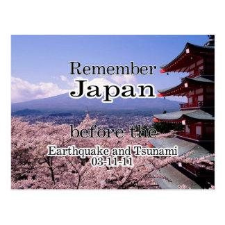 Japan-Tsunami-Unterstützung Postkarte