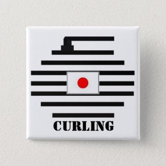 Japan-Winden Quadratischer Button 5,1 Cm