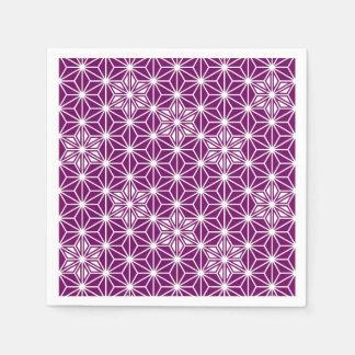 Japaner Asanoha Muster - Aubergine lila Papierserviette