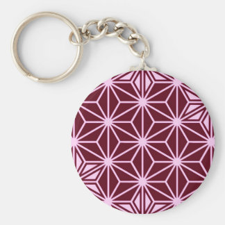 Japaner Asanoha Muster - Burgunder Schlüsselanhänger