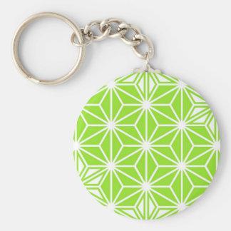 Japaner Asanoha Muster - helles Limones Grün Schlüsselanhänger