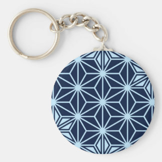 Japaner Asanoha Muster - Indigoblau Schlüsselanhänger