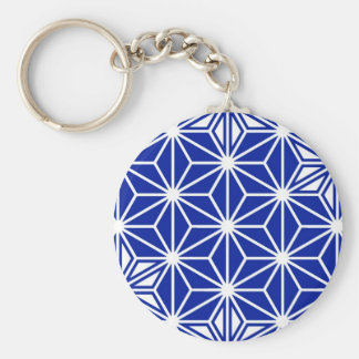 Japaner Asanoha Muster - Kobaltblau Schlüsselanhänger