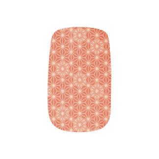 Japaner Asanoha Muster - korallenrote Orange Minx Nagelkunst