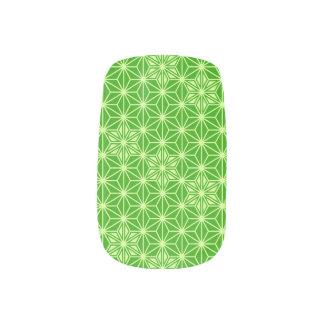 Japaner Asanoha Muster - Limones Grün Minx Nagelkunst