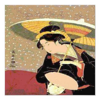 Japaner-Druck-Frau