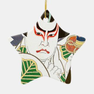 Japaner Kabuki Schauspieler-Kunst durch Natori Keramik Ornament