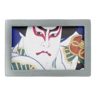 Japaner Kabuki Schauspieler-Kunst durch Natori Rechteckige Gürtelschnalle
