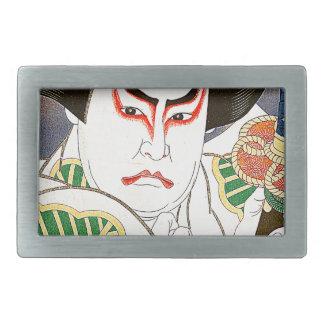 Japaner Kabuki Schauspieler-Kunst durch Natori Rechteckige Gürtelschnallen