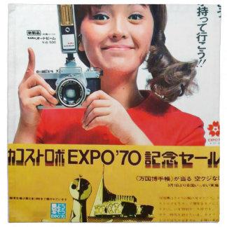 Japaner-Kodak-Kamera-Plakat-Anzeige Stoffserviette